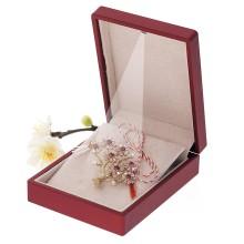 Brosa Gold Plated Copacel cu Flori Roz