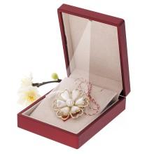 Brosa Gold Plated Floare cu Petale Inimioare