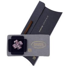 Brosa Swarovski Crystals trifoi cu petale inimioara Rose