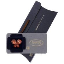 Brosa Swarovski Crystals fluture stralucitor Amber