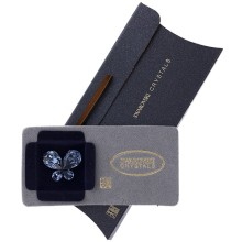 Brosa Swarovski Crystals fluture stralucitor Sapphire